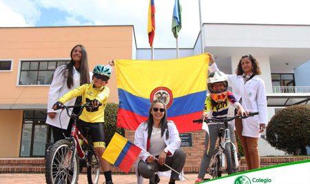Fifth grade ceremonial flag raising event